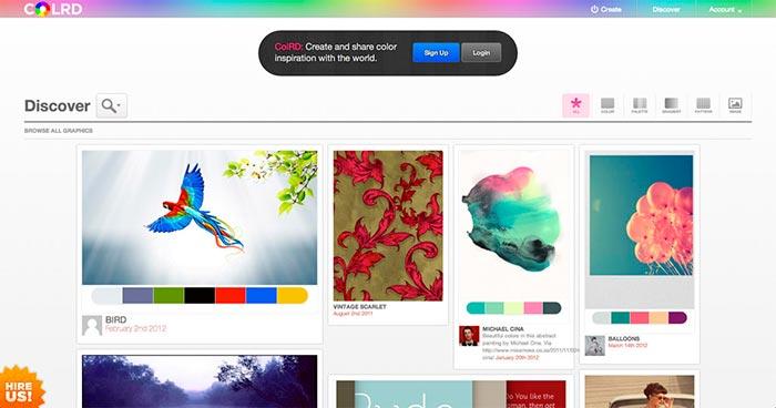 Colrd: usuarios comparten paleta de colores