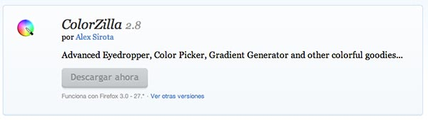 Complementos de Firefox Colorzilla