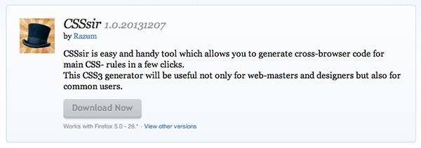 Complementos de Firefox CSSSir