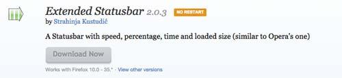 Complementos de Firefox Extended StatusBar