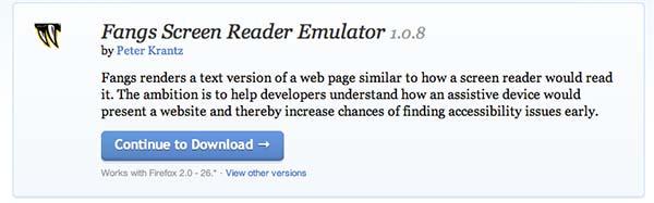Complementos de Firefox Fangs Reader