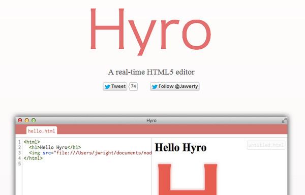Editor HTML Hyro