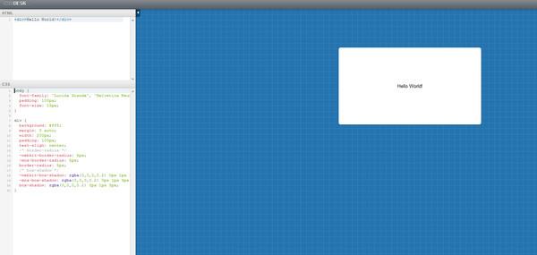Editor HTML online CSSDesk