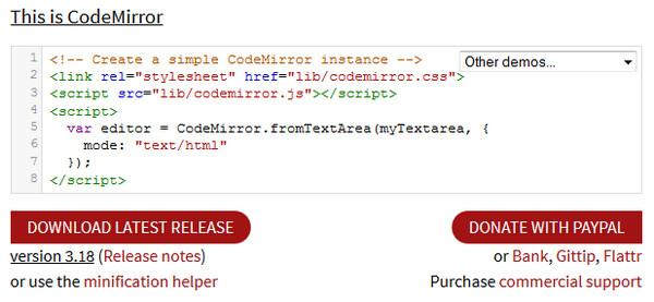 Editor HTML CodeMirror