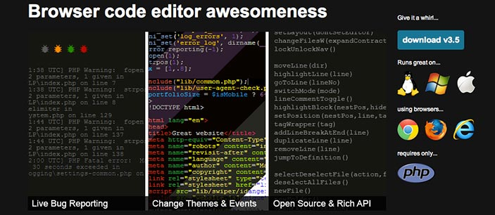 Editor HTML iCEcoder