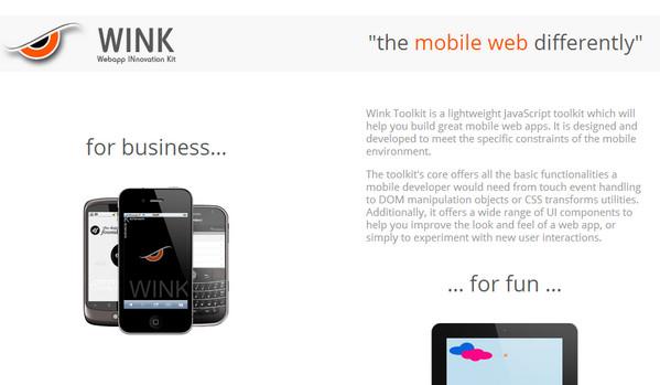 Framework móvil Wink