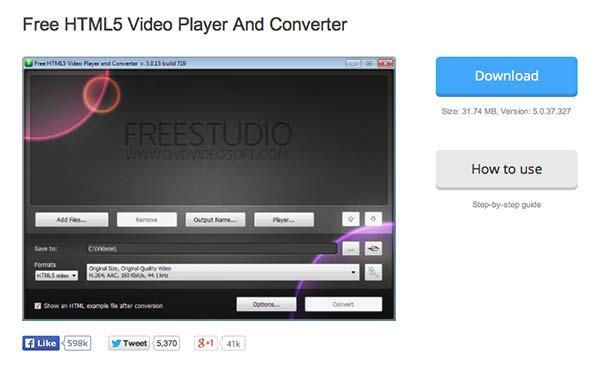 Conversor HTML video HTML5 video Converter
