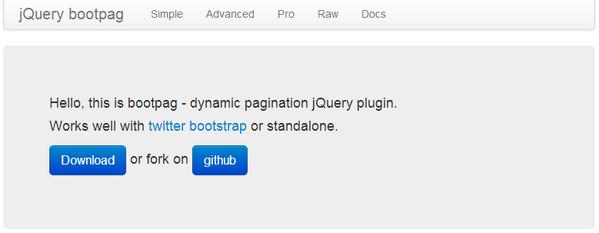 JavaScript Plugin Bootpag
