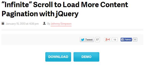 JavaScript Plugin Infinite Scrolling