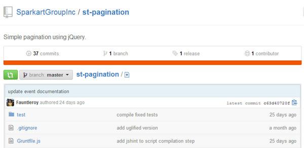 JavaScript Plugin St Pagination