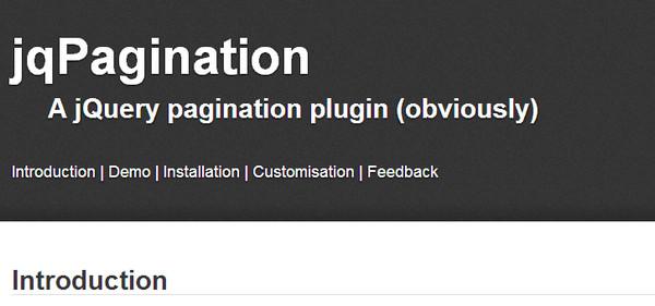 JavaScript Plugin jqPagination