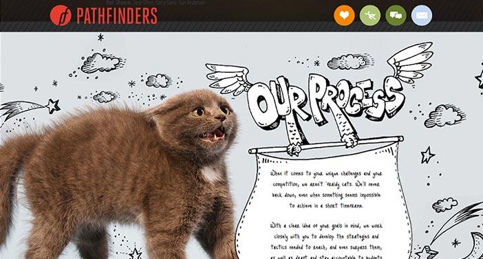 Pantallazo de la web Pathfinders