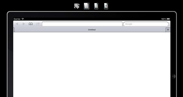 Emulador para sitio web movil iPad Peek