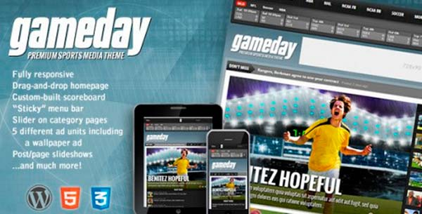 Temas WordPress Gameday