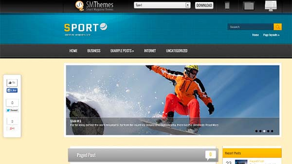 Temas WordPress Sport