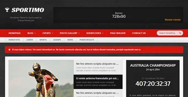 Temas WordPress Sportimo