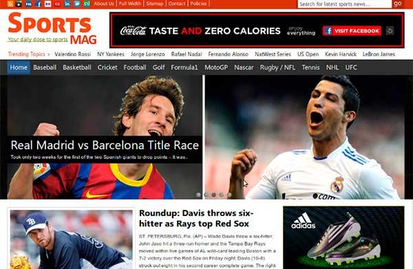 Temas WordPress SportMag