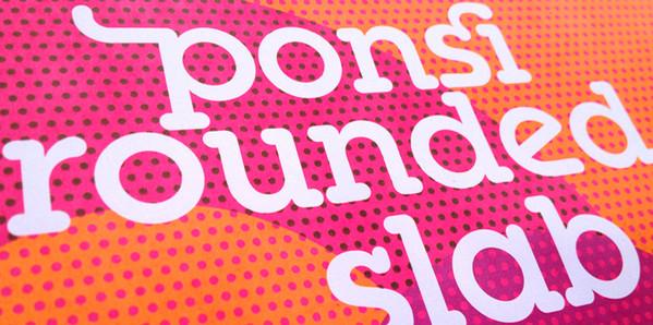 Tipografia Web  Ponsi Rounded Slab