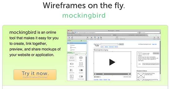 Wireframe MockingBird