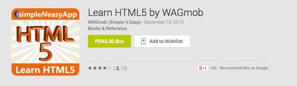 Aplicaciones moviles para aprender Learn HTML5