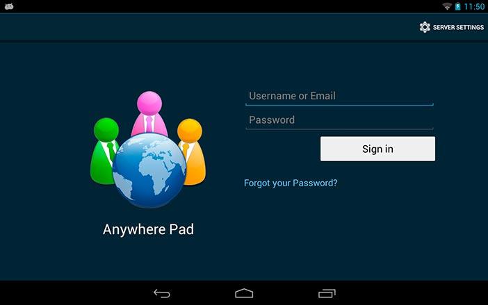 Aplicaciones utiles para Android: Anywhere Pad