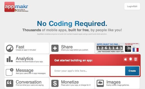 Herramienta para crear aplicaciones para Android: AppMakr