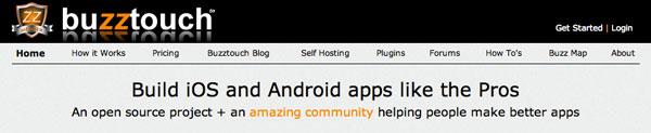Herramienta para crear aplicaciones para Android: Buzztouch