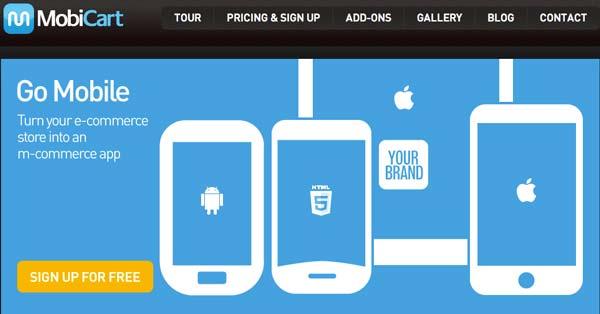 Herramienta para crear aplicaciones para Android: Mobicart