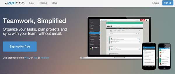 Crear páginas web: Herramienta de colaboración en línea Azendoo