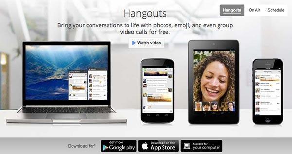 Crear páginas web: Herramienta de colaboración en línea Google Hangouts