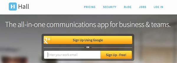 Crear páginas web: Herramienta de colaboración en línea Hall