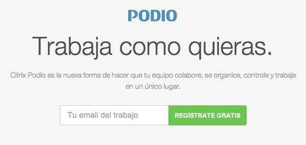 Crear paginas web: Herramienta de colaboracion en linea Podio