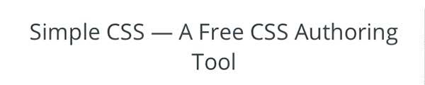 CSS editor Simple CSS
