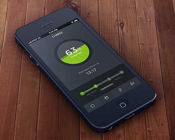 Ejemplos de desarrollo de aplicaciones móviles: Charging Animation
