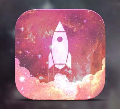 Diseño de iconos en el de desarrollo de aplicaciones móviles: Rocket