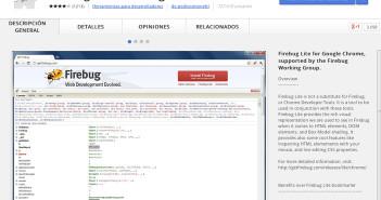 Extensiones Google Chrome para programadores: FirebugLite