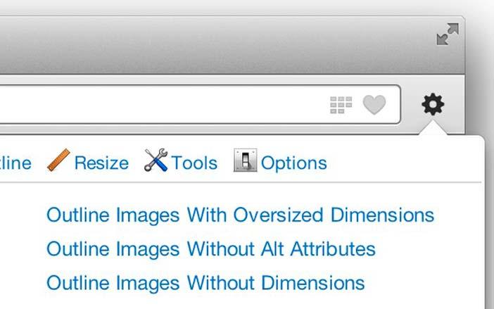 Extensiones Opera: Web Developer