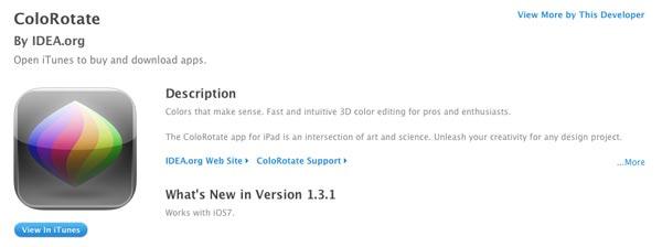 iOS app ColoRotate