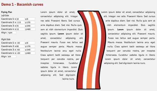 Javascript plugin Bacon