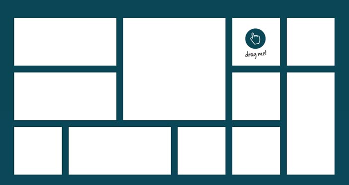 Javascript plugin Gridster