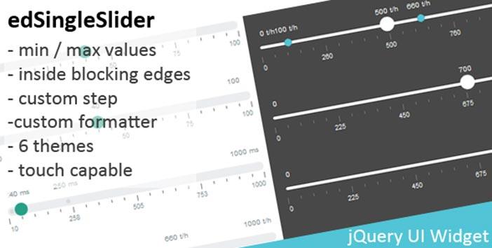Javascript Plugin edValue Slider
