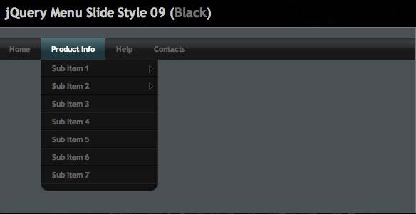 JavaScript plugin Menu Slide