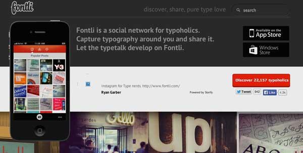 Lista de redes sociales para diseñadores: Fontli