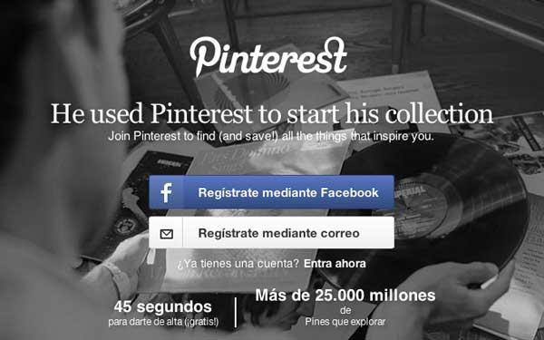 Lista de redes sociales para diseñadores: Pinterest