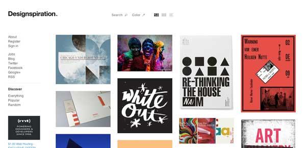 Herramienta web para generar paletas de colores Designinspiration