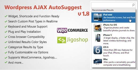 Plugin WordPress Ajax Auto Suggest
