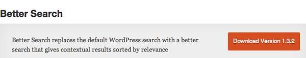 Plugin WordPress Better Search