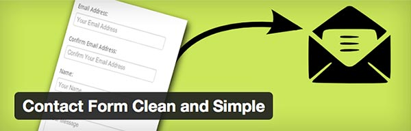 Plugin WordPress Contact Form Clean and Simple
