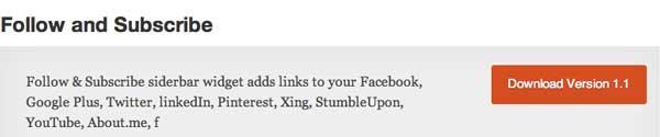 Plugin WordPress Follow and Subscribe