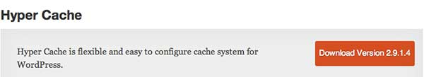 Plugin WordPress Hyper Cache